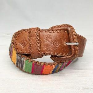 Vintage | Embossed Leather Guatemalan Belt Sz. M